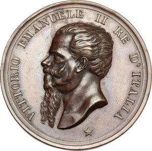 obverse: Casa Savoia.  Vittorio Emanuele II (1849-1861).. Medaglia 1825 Giugno 1882, per l inaugurazione del monumento a Vittorio Emanuele II ad Ascoli Piceno