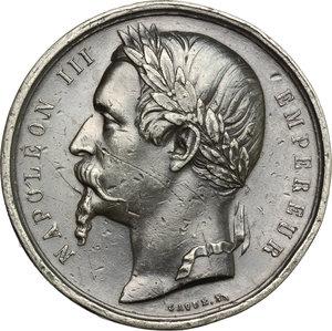 obverse: Casa Savoia.  Napoleone III (1852-1870).. Medaglia 1860 per il trattato di Torino 1860, cessione della Savoia e della contea di Nizza alla Francia