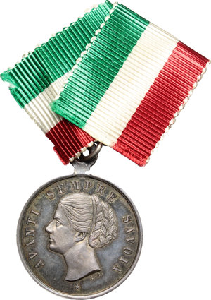obverse: Casa Savoia.  Margherita di Savoia (1851-1926). Medaglia 1881, ricordo dei sovrani in Sicilia