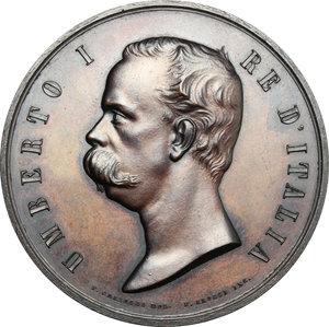 obverse: Casa Savoia.  Umberto I (1878-1900).. Medaglia 1881, per l Esposizione Nazionale di Milano