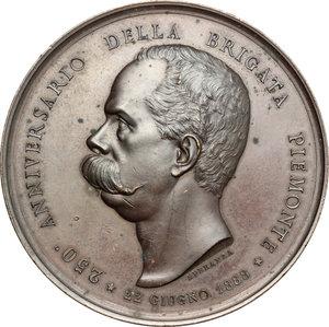 obverse: Casa Savoia.  Umberto I (1878-1900).. Medaglia 1888, 250° anniversario della Brigata Piemonte