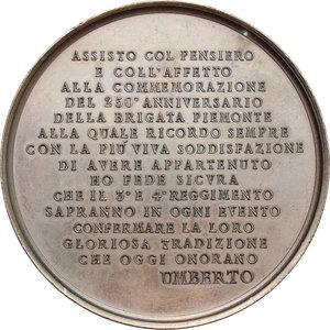 reverse: Casa Savoia.  Umberto I (1878-1900).. Medaglia 1888, 250° anniversario della Brigata Piemonte