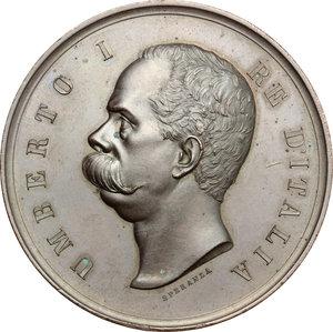 obverse: Casa Savoia.  Umberto I (1878-1900).. Medaglia 1890, per il bicentenario della Brigata Aosta