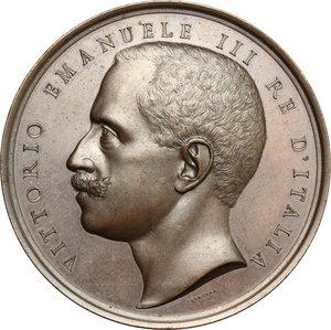obverse: Casa Savoia.  Vittorio Emanuele III (1900-1943). Medaglia 29 Gennaio 1902, per l ottantesimo compleanno dell attrice Adelaide Ristori