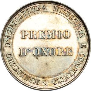 reverse: Vittorio Emanuele III (1900-1943). Medaglia Premio d onore. Ministero d agricoltura, industria e commercio