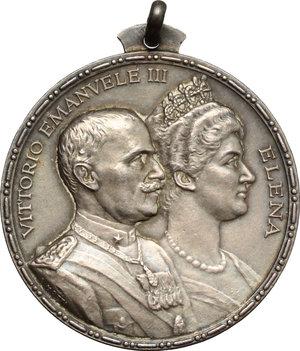 obverse: Casa Savoia.  Vittorio Emanuele III (1900-1943). Medaglia 1925, per il Giubileo Reale, 25° Anniversario dell ascesa al trono d Italia di Vittorio Emanuele III
