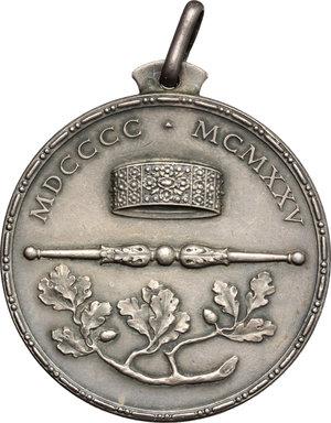 reverse: Casa Savoia.  Vittorio Emanuele III (1900-1943). Medaglia 1925, per il Giubileo Reale, 25° Anniversario dell ascesa al trono d Italia di Vittorio Emanuele III