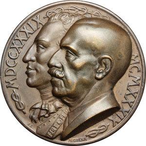 obverse: Casa Savoia.  Vittorio Emanuele III (1900-1943). Medaglia 1939, per il bicentenario dell Scuola Applicazione Artiglieria e Genio