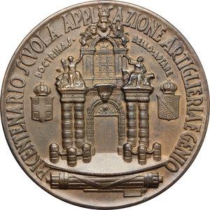 reverse: Casa Savoia.  Vittorio Emanuele III (1900-1943). Medaglia 1939, per il bicentenario dell Scuola Applicazione Artiglieria e Genio