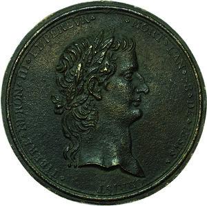 obverse: Tiberio (14-37 d.C.). Placchetta uniface, prima metà del XVIII secolo