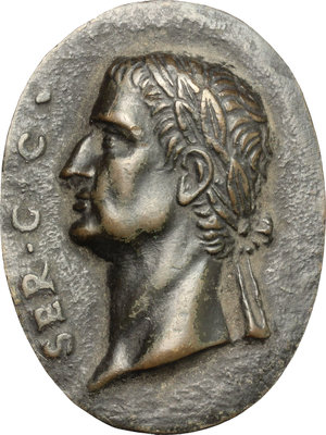 obverse: Galba (68-69).. Placchetta ovale, XVII sec
