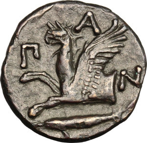 Reverse image of coin 107