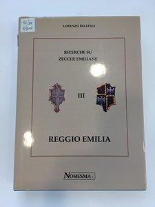 obverse: BELLESIA, Lorenzo.. Ricerche su zecche emiliane III. Reggio Emilia. Nomisma, Repubblica di San Marino, 1998.  pp. 350, ill. n.t
