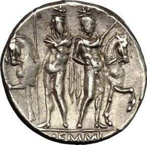 reverse: L. Memmius.. AR Denarius, 109-108 BC