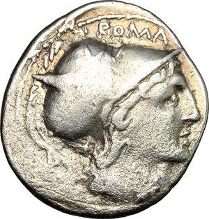 obverse: Q. Lutatius Cerco.. AR Denarius, 109-108 BC