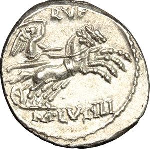 reverse: M. Lucilius Rufus. . AR Denarius, 101 BC