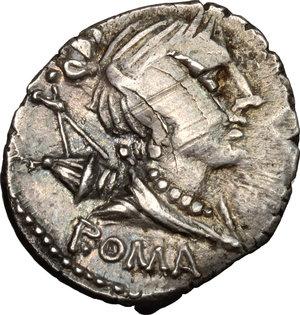 obverse: A. Albinus Sp.f.. AR Denarius, 96 BC