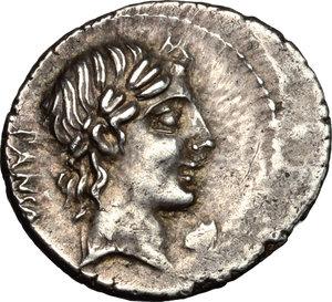 obverse: C. Vibius C.f. Pansa. AR Denarius, circa 90 BC