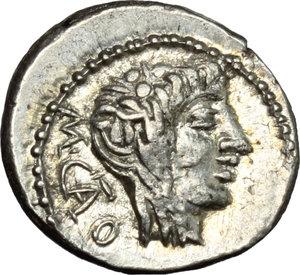 obverse: M. Cato.. AR Quinarius, 89 BC