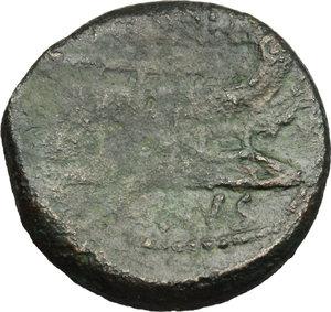 reverse: L. Titurius L. f. Sabinus.. AE As, ca. 89 BC