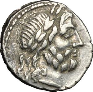 obverse: Cn. Lentulus Clodianus.. AR Quinarius, 88 BC