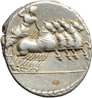 reverse: Vergilius, Gargilius and Ogulnius.. AR Denarius, 86 BC