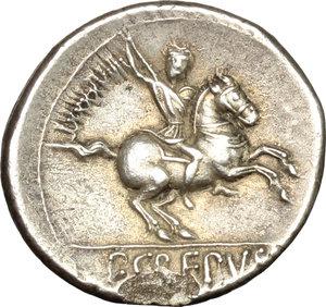 reverse: Pub. Crepusius.. AR Denarius, 82 BC