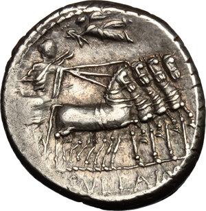 reverse: L. Manlius Torquatus.. AR Denarius, 82 BC