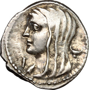 obverse: L. Cassius Longinus.. AR Denarius, 63 BC