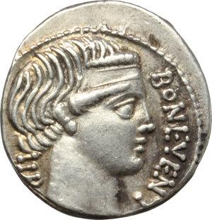 obverse: L. Scribonius Libo.. AR Denarius, 62 BC