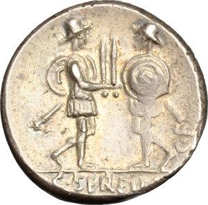 reverse: C. Servilius C.f.. AR Denarius, 57 BC
