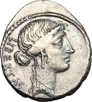 obverse: M. Junius Brutus.. AR Denarius, 54 BC