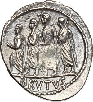 reverse: M. Junius Brutus.. AR Denarius, 54 BC