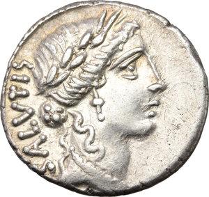 obverse: Man. Acilius Glabrio.. AR Denarius, 49 BC