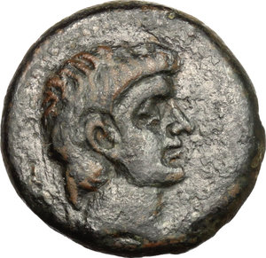 Pompey the Great.. AE 20 mm. 30-31 AD (?). Pompeiopolis mint, Cilicia