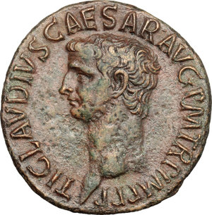 obverse: Claudius (41-54).. AE As, Rome mint