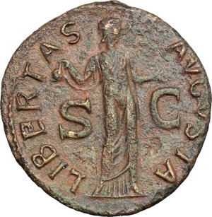 reverse: Claudius (41-54).. AE As, Rome mint