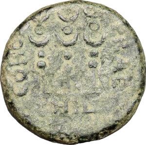 reverse: Claudius to Nero (c. 41-68).. AE 19 mm. Philippi mint, Macedon