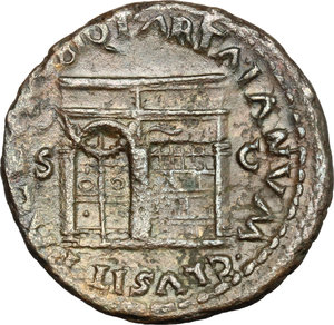 reverse: Nero (54-68).. AE As, Rome mint