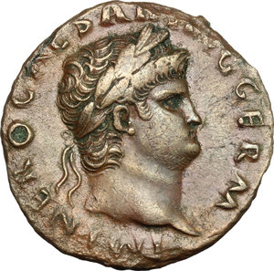 obverse: Nero (54-68).. AE As, Rome mint
