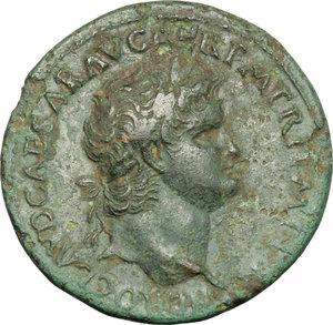 obverse: Nero (54-68).. AE Sestertius, Lugdunum mint