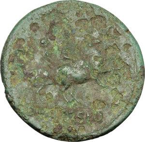 reverse: Nero (54-68).. AE Sestertius, Lugdunum mint