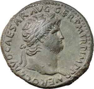 obverse: Nero (54-68).. AE Sestertius