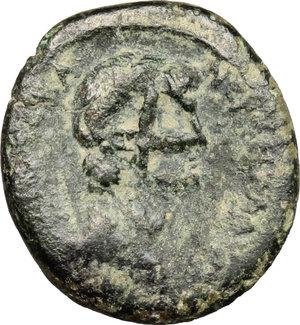 obverse: Nero to Hadrian. A group of six AE, mostly Palestinian, countermarkedby the Legio X Fretensis. Nero (54-68).. Lydia, Thyateira. AE 18 mm. 55-60 AD