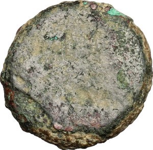 reverse: Nero to Hadrian. A group of six AE, mostly Palestinian, countermarked by the Legio X Fretensis. Vespasian (?) (69-79).. Judaea, Ascalon (?). AE 15 mm
