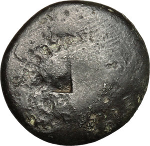 obverse: Nero to Hadrian. A group of six AE, mostly Palestinian, countermarked by the Legio X Fretensis. Titus (79-81) to Hadrian (117-138).. Judaea, Uncertain. AE 19 mm. countermarked at Sebaste or Jerusalem, c. 80-132 AD