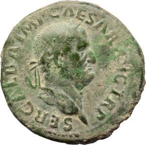 obverse: Galba (68-69).. AE Dupondius, Rome mint