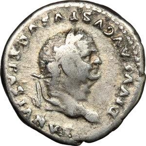 obverse: Vespasian (69-79).. AR Denarius, struck under Titus, 80-81 AD