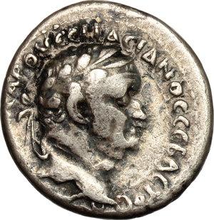 obverse: Vespasian (69-79) with Titus.. AR Didrachm, Caesarea-Eusebia, Cappadocia. Struck 76-77 AD