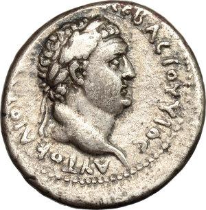 reverse: Vespasian (69-79) with Titus.. AR Didrachm, Caesarea-Eusebia, Cappadocia. Struck 76-77 AD